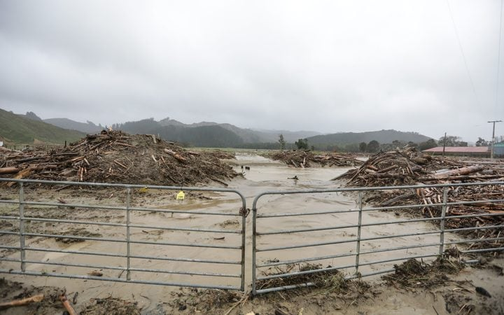 Flood damage from forestry waste